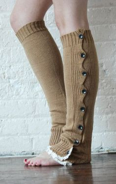 Leg Warmers Caramel Leg Warmers Boot Toppers Gift but in white Hot Outfits, Fashion Outfits, Ladies Fashion, Knit Leg Warmers, Fashion Slippers, Boot Toppers, Warm Dresses, Fashion Corner, Cool Style