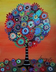 bar,bat,mitzvah,tree,tree of life,prisarts,original,painting,home,decor,baby,room,nursery,gift,pristine,cartera,turkus,sale,cool