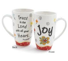 "White ""Joy"" Proverbs Coffee Mug: Amazon.com: Kitchen & Dining"