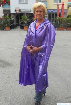 Vinyl Raincoat, Pvc Raincoat, Capes, Plastic Mac, Raincoats For Women, Rain Wear, Girlfriends, Sari, Female