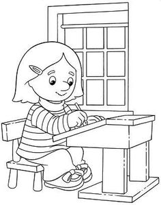 Fille l'écriture Coloring For Kids, Coloring Pages, Ours Paddington, Postman Pat, School Clipart, Action Words, Best Makeup Brushes, Expresso, Old Tv Shows