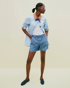 J.Crew: Your Summer Lookbook J Crew Looks, Summer Lookbook, Loafers For Women, Utility Jacket, Short Outfits, Cashmere Sweaters, Mens Suits, Cotton Canvas, Jackets
