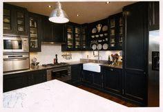 Navy Blue in the Kitchen