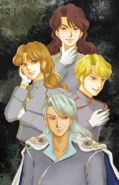 Sailor Moon - Nephrite, Zoisite, Jadeite, and Kunzite by あいのるけ
