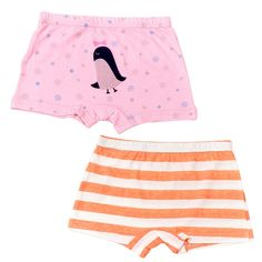 2-8 Years Girls Barbie Princess Pink Boyshorts Panties Character Underwear Multicolor