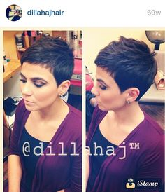Short Pixie Hairstyles - hair styles for short hair Short Pixie Haircuts, Cute Hairstyles For Short Hair, Short Hair Styles, Short Bangs, Very Short Hair, Short Hair Cuts For Women, Short Cuts, Super Short Pixie, Sassy Hair