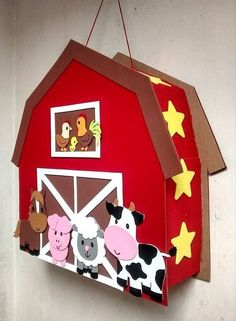 20 ideas to decorate a Children's Farm Party - AnimalPins Farm Animal Party, Farm Animal Birthday, Barnyard Party, Farm Birthday, Farm Party, Farm Theme, Ideas Para Fiestas, Farm Animals, First Birthdays