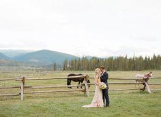 Devil's Thumb Ranch wedding - photo by Laura Murray http://ruffledblog.com/devils-thumb-ranch-wedding