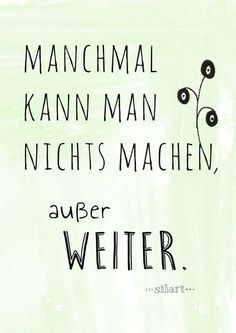 Weiter machen, Lettering Card, Quote Art, Word Art, Statements, Zitate, Sprüche, Karten (Beauty Soul Tattoo)