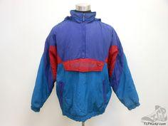 Vtg 80s 90s Adidas Tre Foil Pullover Hoody Jacket Coat Run DMC sz L Large  #adidas #BasicJacket #tcpkickz