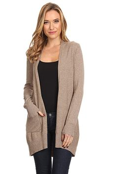 A+D Womens Basic Open Front Knit Cardigan  ed18e2f04
