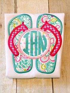 Custom Monogrammed Flip Flop Girls Ruffle Bottom Shirt or Infant Bodysuit - beach trip - monogram flip flops - girls shirt by ASouthernChildLLC on Etsy https://www.etsy.com/listing/242428287/custom-monogrammed-flip-flop-girls