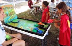 Frog Flinger Carnival Game -- Could you get the frog on the lilly pad?