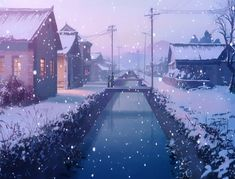 Futuretage: Getting cold real soon now. Aesthetic Images, Aesthetic Backgrounds, Aesthetic Anime, Chroma Key, Anime Snow, Snow Gif, Anime Gifs, Anime Places, Scenery Wallpaper