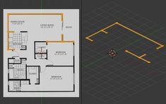 Create A Floor Plan Model From An Architectural Schematic In Blender Blender Architecture, Blender Tutorial, Blender 3d, Autocad, Solar, Floor Plans, House Design, Flooring, How To Plan