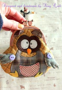 Quilted Owl purse