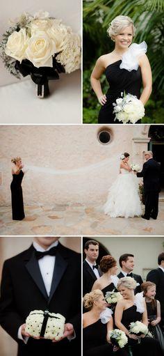 Decoraciones para bodas blanco y negro - Lujo y elegancia en una boda en blanco y negro
