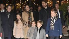 Crown Prince Frederik,Crown Princess Mary and their children at a premiere of a Nutcracker