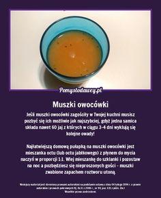 Skuteczna pułapka na muszki owocówki tylko z 2 składników! Cantaloupe, Sweet Home, Fruit, Food, House Beautiful, Essen, Meals, Yemek, Eten
