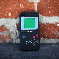 iPhone 4/4S Gameboy Case Black, now featured on Fab.