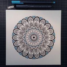 "Mandala Designs, woerm: Daily Mandala #22 - ""This is my simple..."