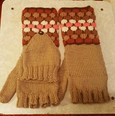 Check out this item in my Etsy shop https://www.etsy.com/listing/526613136/tan-mosaic-convertible-fingerless-mitts