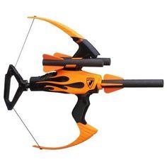 Nerf Bow Blaster Foam Arrows Storage Archery Sport Bullseye Game Strike Blazin  #Nerf