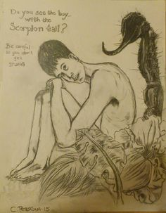 """""""The Boy with the Scorpion Tail. Scorpion, Spirituality, Dragon, Drawings, Boys, Image, Art, Sketches, Baby Boys"""