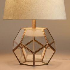 Glass Hexagon Accent Lamp Base | World Market