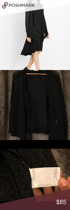 Vince drape cardigan Metallic knit drape cardigan  Never worn. Very good material, fabric has some weight to it. Vince Sweaters Cardigans