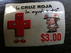 Cruz Roja  Retro Sticker 2012