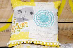 Pocket Full of Whimsy: DIY   Love Notes Photo Pillow