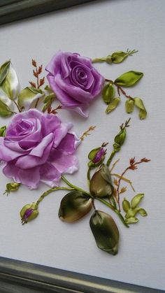 Wonderful Ribbon Embroidery Flowers by Hand Ideas. Enchanting Ribbon Embroidery Flowers by Hand Ideas. Embroidery Designs, Ribbon Embroidery Tutorial, Silk Ribbon Embroidery, Vintage Embroidery, Rose Embroidery, Embroidery Stitches, Embroidery Patterns, Embroidery Techniques, Embroidery Supplies