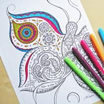 Relax With These 168 Free, Printable Coloring Pages for Adults: Free, Printable Adult Coloring Pages from Hattifant