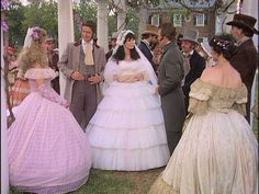 Ashtons wedding to James Huntoon North and South South Fashion, North And South, Civil War Movies, Luke And Laura, Wedding Movies, Beautiful Costumes, Lady And Gentlemen, Southern Belle, Retro