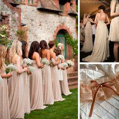 Damas de honor en color #sand #Bridesmaids #dress #Wedding #YUCATANLOVE