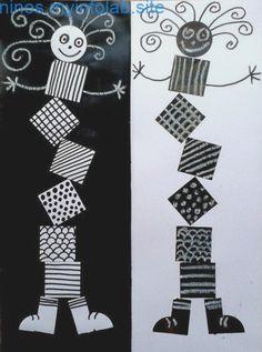 Ideas For Geometric Line Art Math School Art Projects, Art School, Classe D'art, 2nd Grade Art, Ecole Art, Kindergarten Art, Art Lessons Elementary, Elements Of Art, Art Classroom