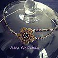Sublime hairband UNIQUE  fleur et perles
