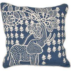 En Casa Encasa01 Blue Pillow from FROY