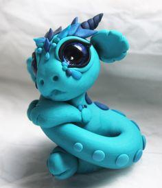 Bitty Baby Blue Dragon by BittyBiteyOnes.deviantart.com on @deviantART