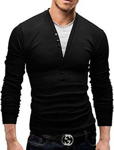 86281ac0d45 MERISH Longsleeve Pullover Shirt Slim Fit Hemd Größen S-XXL 34