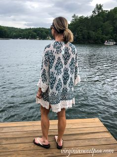 Stitch Fix Review for July 2020 - Mason Stitchfix Reviews, Tie Front Blouse, Women's Fashion, Fashion Outfits, Crochet Trim, Swimsuit Cover, Summer Tops, Stylish Outfits, Stitch Fix