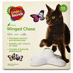 Best Cat Toys : Leaps & Bounds Electric Flutter Butterfly Cat Toy -- For more information, visit image affiliate link.