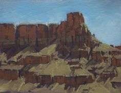 "Doug Braithwaite ""Cliff Steps"" 7"" x 9"" Oil"
