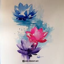 water color lotus tattoo - Google Search