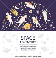 Banner on the theme of space. Vector illustration