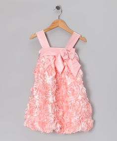 Rose Satin Rosette Dress