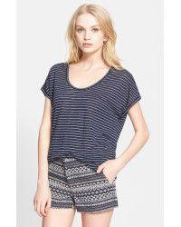 Joie | Blue 'Citali' Stripe Linen Tee | Lyst