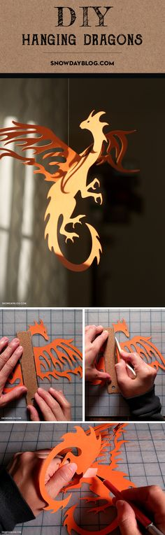 For Game of Thrones fans! DIY Hanging Dragons.