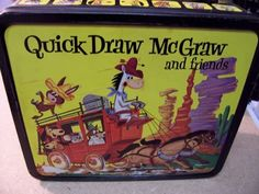 Quick Draw McGraw Huckleberry Hound Retro Lunch Boxes, Tin Lunch Boxes, Boxer Rebellion, Huckleberry Finn, School Lunch Box, Child Hood, Quick Draw, Box Signs, Lunch Time
